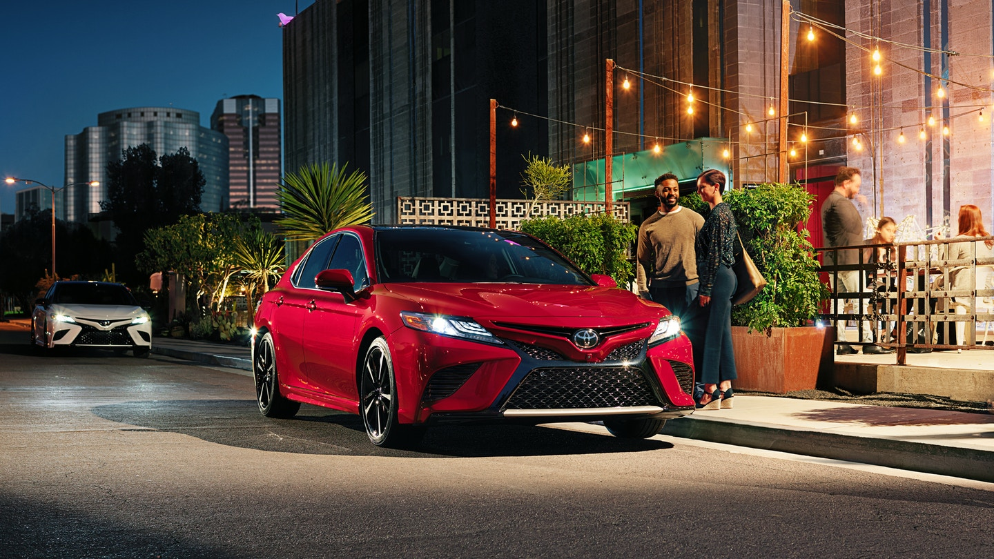 2019 Toyota Camry sunroof and moonroof options at Tustin car dealerships
